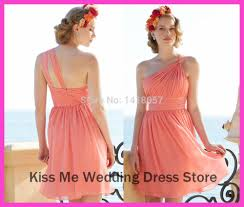 one shoulder coral bridesmaid dresses long luxury hotels in