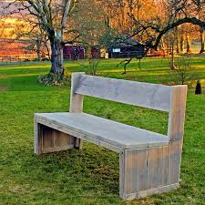 wooden garden chunky solid bench in reclaimed scaffolding planks