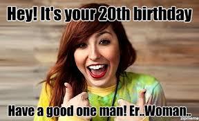 20th Birthday Meme - liz lee hey it s your 20th birthday have a good one man er