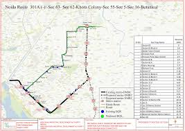 Metro Bus Routes Map by Route Chart Of City Bus Noida Metro Rail Corporation Ltd