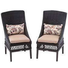 Patio Dining Chairs With Cushions Hton Bay Woodbury Wicker Outdoor Patio Dining Chair With