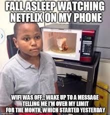 Kid On Phone Meme - microwave kid imgflip