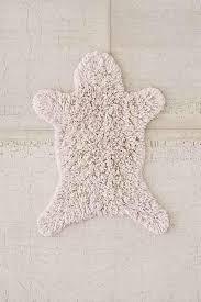 sheepskin bath mat thinking white things bath mat
