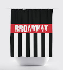 Navy And Red Shower Curtain Custom Broadway Striped Shower Curtain With Skyline U2013 Shop Wunderkinds