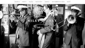 Wedding Websites Modern Chic Wedding Websites By Riley U0026 Grey
