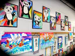 art show ideas beautiful white blue wood unique design kids art room ideas wall f