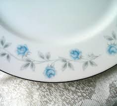 vintage china pattern seaside creations blue roses vintage china plate
