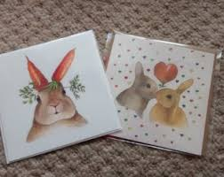 rabbit wedding card or engagement card rabbits in