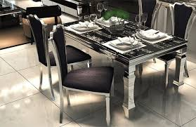 modern metal glass dining tables and chairs stainless steel dining