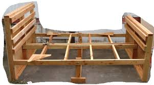 Reclaimed Wood Double Bed Frame How To Build Wooden Bed Frame Collection With A Images Double