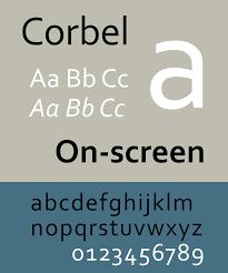 Corbel Bold Corbel Typeface Wikipedia