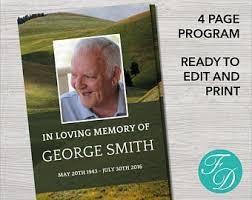 sle of funeral program printable funeral program template memorial program