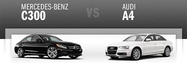 audi a4 comparison c300 vs audi a4 mercedes of loveland