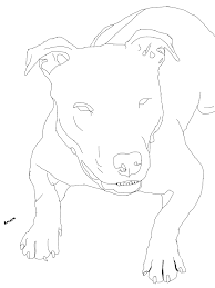 pitbull coloring pages simple pitbull coloring pages with pitbull