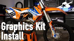 graphics for motocross bikes how to install a graphics kit on a motocross bike youtube