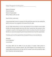 resignation letter format formal format letter of