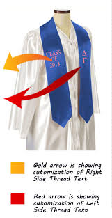personalized graduation stoles custom graduation stoles sashes for graduates create your own
