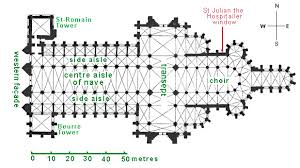 cathedral floor plan saint gatien cathedral ground plan tours france mon siècle