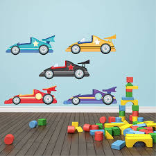 cartoon cute animals car wall stickers children boys nursey image of race car wall decals for kids