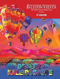 Fiesta Of Five Flags 2016 Albuquerque International Balloon Fiesta Official Program By