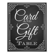 wedding gift table sign wedding sign card and gift table zazzle