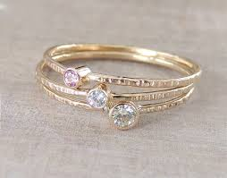 stackable birthstone rings birthstone ring set gold moissanite ring delicate gold ring