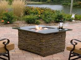 Outdoor Firepit Gas Gas Vs Propane Outdoor Fireplace Delightful Outdoor Ideas