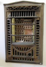 antique in wall dining room heater bronze u0026 ceramic my vintage