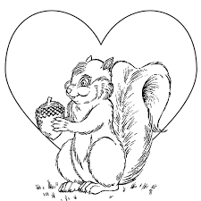 valentine colouring pages children