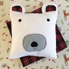 snuggly polar bear diy pillow allfreechristmascrafts com