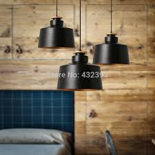 modern brief personality single head black and white pendant light