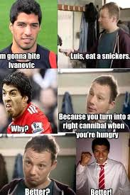 Eat A Snickers Meme - scouse memes on twitter suarez did audition for the original
