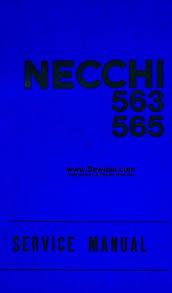 necchi sewing machine service manuals