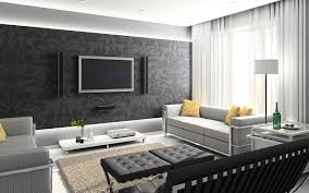 black white and red living room decor within black and white