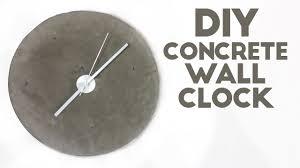 wall clock modern diy concrete wall clock modern builds ep 45 youtube