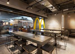 fast food restaurant design with extra large glass windows