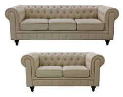 Chesterfield Sofa Linen Us Pride Furniture S5071 2pc Linen Fabric Chesterfield