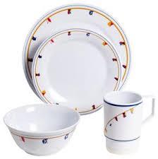Nautical Themed Dinnerware Sets - coastal melamine dinnerware nautical non skid melamine