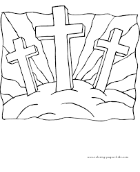 coloring pages crosses good friday coloring pages crosses
