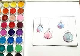 christmas cards in watercolor 4 easy diy watercolor christmas cards