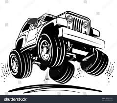 bigfoot monster truck cartoon vector cartoon jeep stock vector 88500991 shutterstock