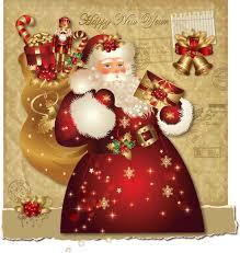 santa claus greeting cards free vector graphic