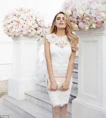 Lingerie For Brides Chloe Lloyd Poses In Bridal Gowns And Racy Lingerie Daily Mail