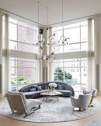 sprawling tribeca triplex boasting mid century and modern design