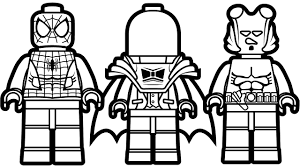 lego spiderman vs lego red hood vs lego hellboy coloring book