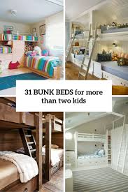 Two Bunk Beds 31 Cool And Practical Bunk Beds For More Than Two Digsdigs