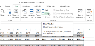 how to hide worksheets tabs and entire workbooks in excel