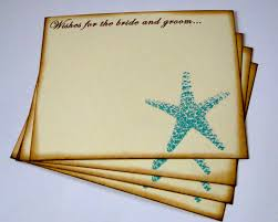 Wedding Wishes Guest Book Wedding Guest Book Alternative Cards Set Of 50 Beach Starfish