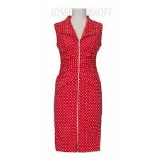 buy joseph ribkoff red u0026 white polka dot dress 152806 online