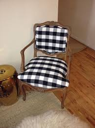 Black And White Check Upholstery Fabric Aesthetic Oiseau Chairs Before And After